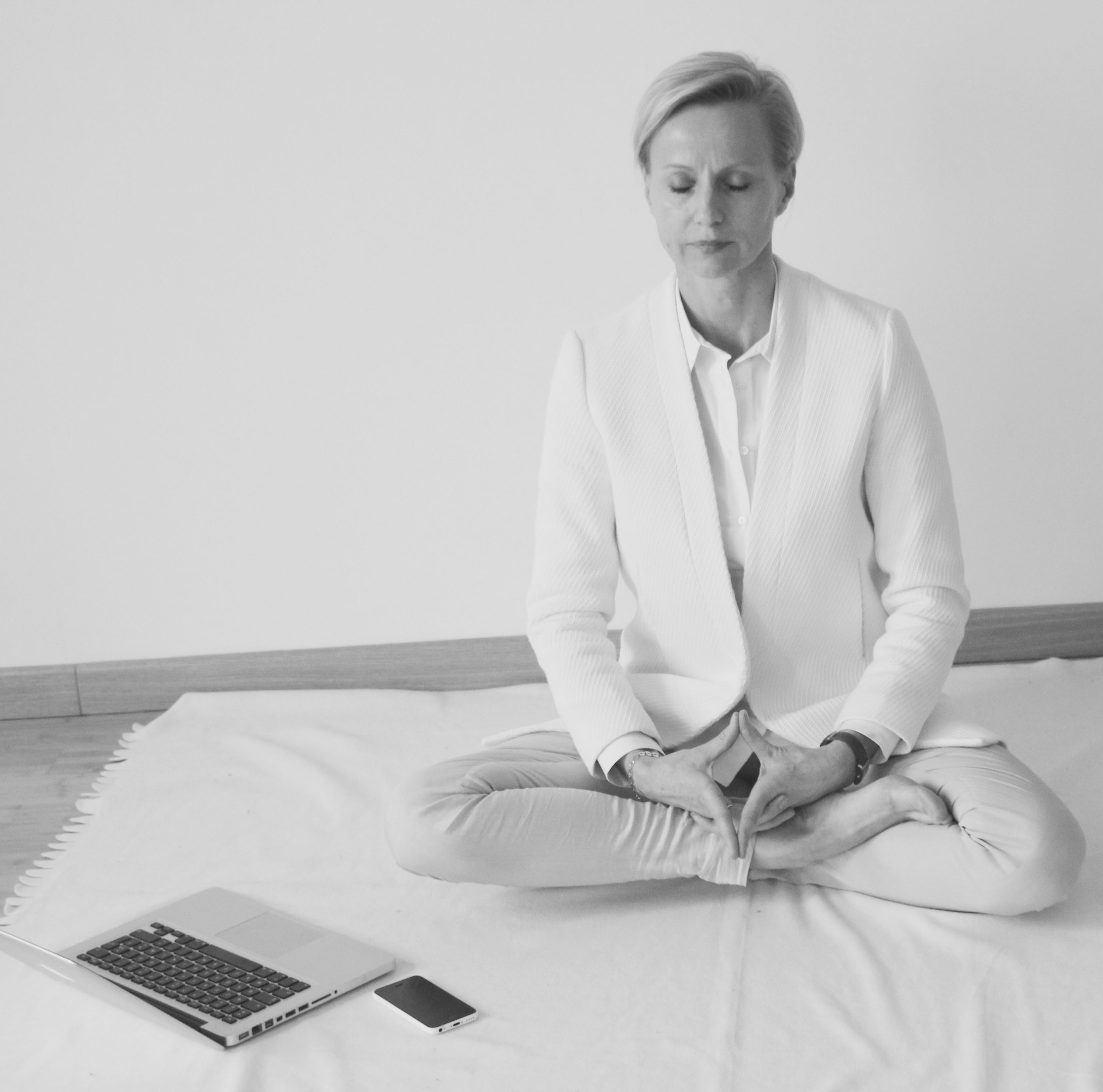Mediation, breathing and Asana for stress relief.